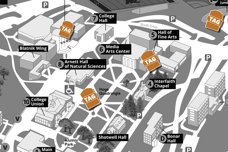 Check out the TAG map in the College Union. See how donor generosity impacts campus life.